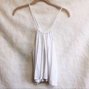 Hollister White Airy Racerback Adjustable Top